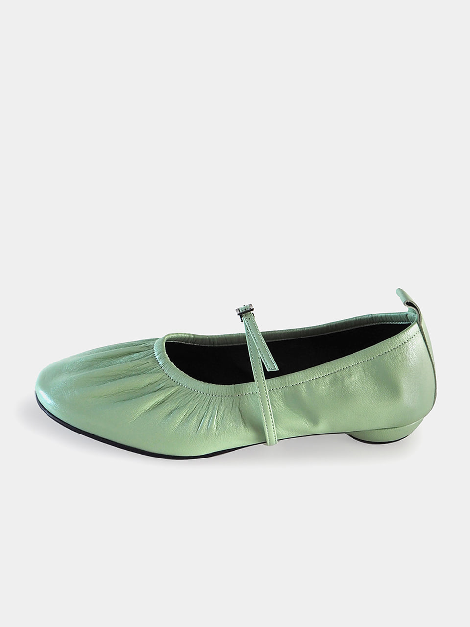 PRE-OPEN [New Color] Mrc061 Shirring Flat Shoes (Kid Lime)