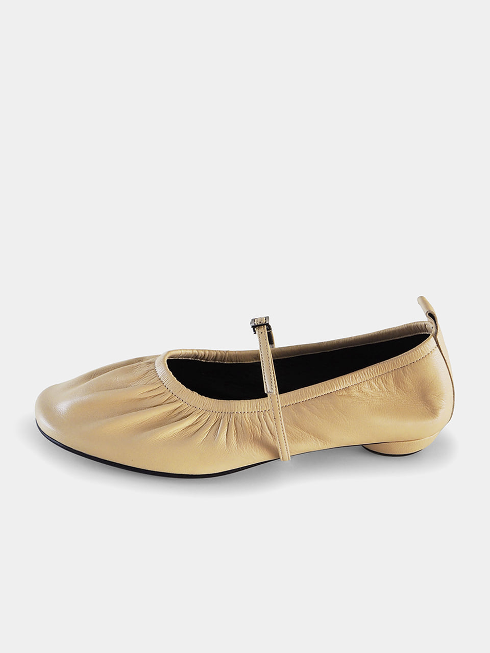 [Sold Out] Mrc061 Shirring Flat Shoes (Butter Yellow)